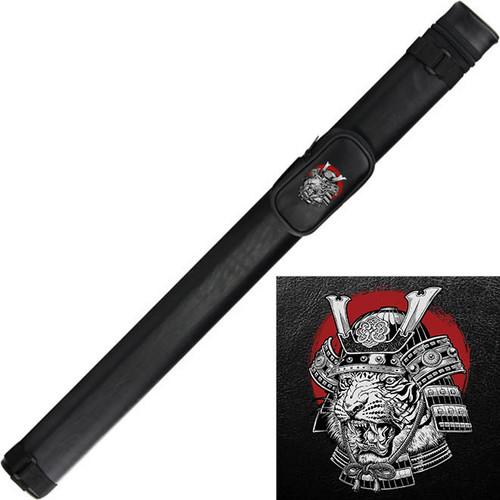 Ozone Cue Case 1 Butt/1 Shaft Black - Samurai Tiger