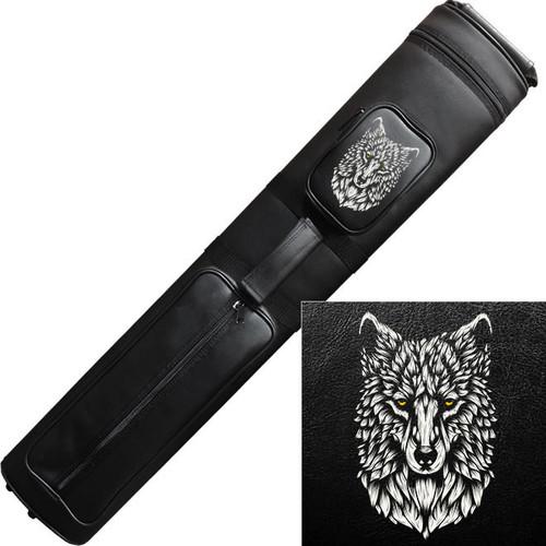 Ozone Cue Case 3 Butt/5 Shaft Black - Wolf