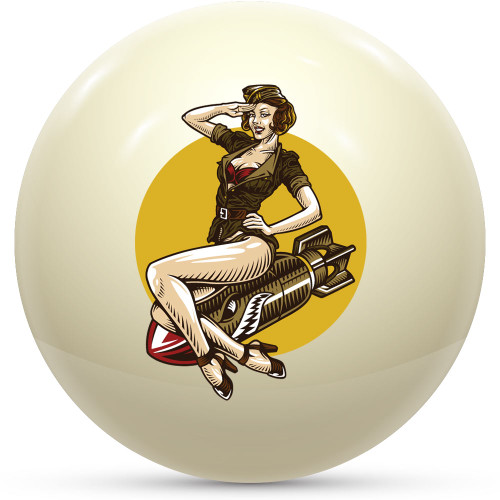 Custom Cue Ball - Pinup