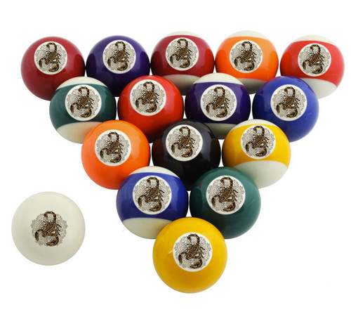 Custom Pool Balls Set - Scorpion