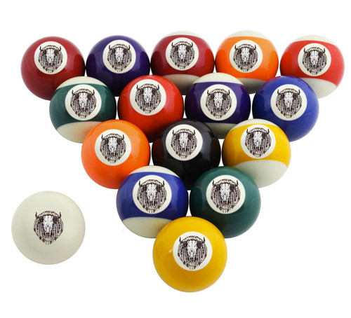 Custom Pool Balls Set - Western Skull