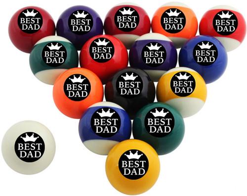Custom Pool Balls Set - Best Dad