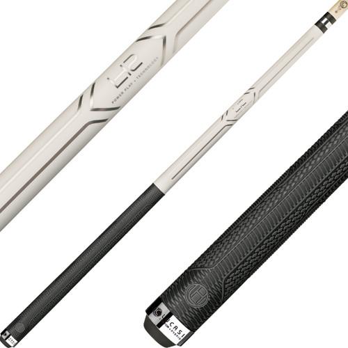 Lucasi Hybrid Cues - Pearl White and Metallic Silver LHC13