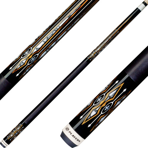 Players Cues - Black with White Recon Graphic G4135