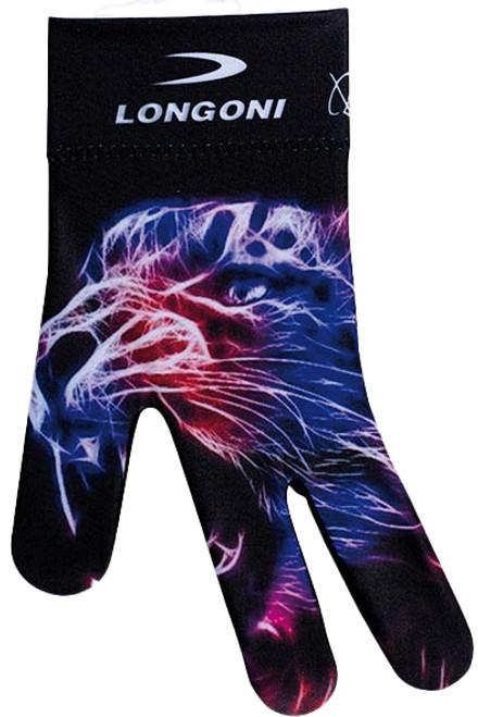 Longoni Billiards Glove Neon Tiger Left Bridge Hand