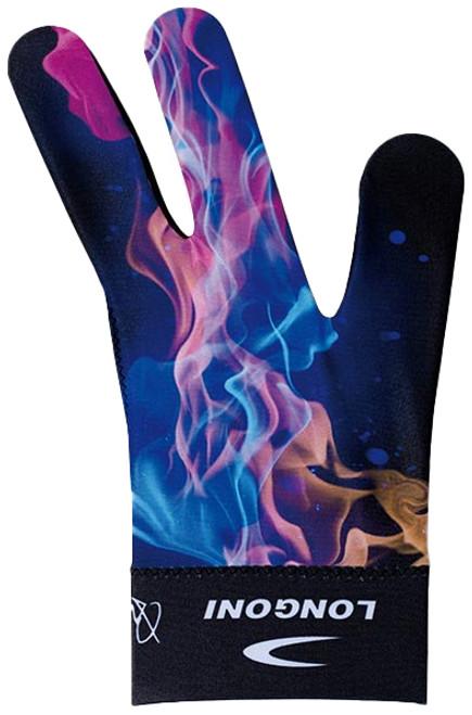 Longoni Billiards Glove Explosion Fire Left Bridge Hand