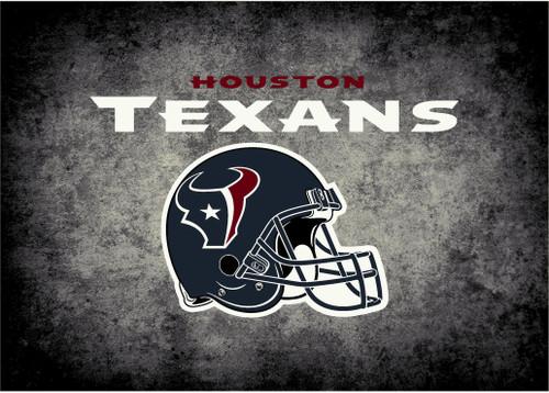 Houston Texans Rug Distressed