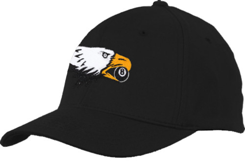 Ozone Billiards Screaming Eagle Hat - Black - Free Personalization