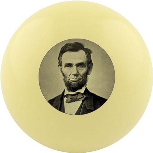 Custom Cue Ball - Abraham Lincoln