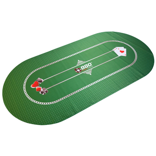 Portable Poker Mat Green
