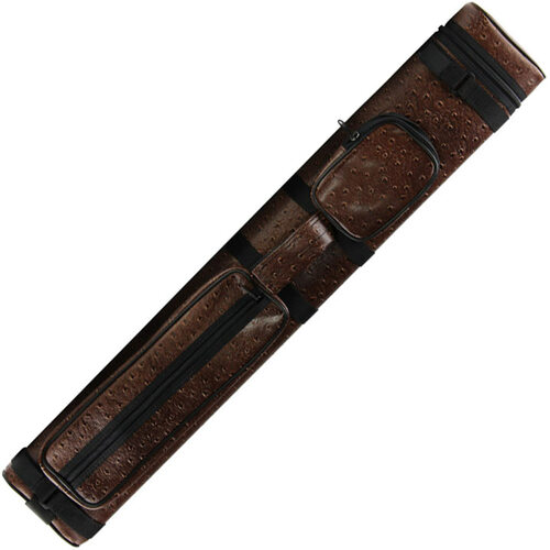 Ozone Pool Cue Case - Tube 2 Butt/4 Shaft - Brown