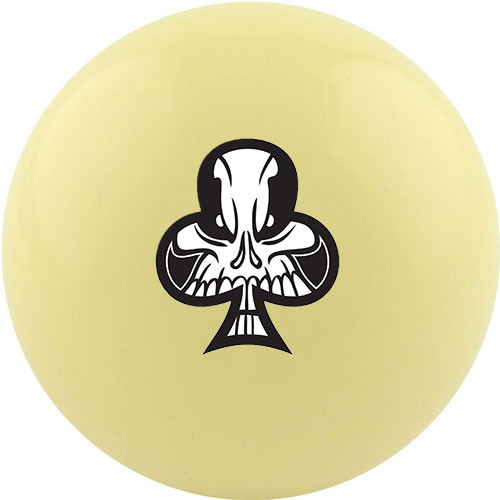 Custom Cue Ball - Club Suit