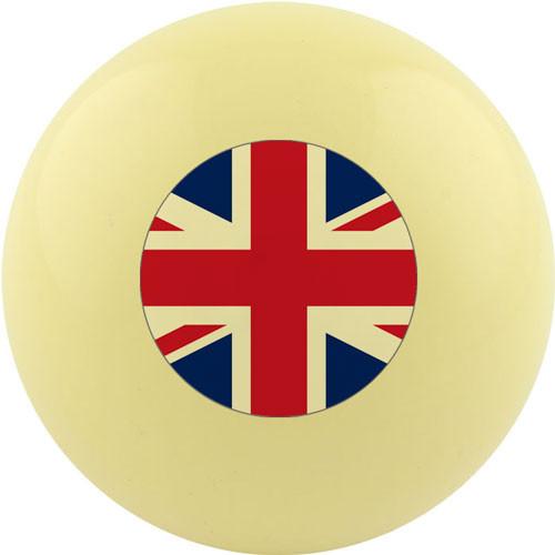 Custom Cue Ball - United Kingdom Flag