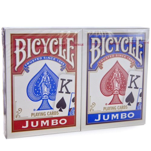 Bicycle Cards Jumbo Index Playing Cards Red and Blue 2 Pack
