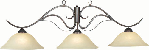 3 Shade Pool Table Light Monaco - Oil Rubbed Bronze