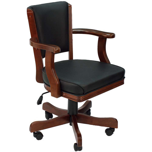 Ram Gameroom Swivel Poker Chair with Casters English Tudor