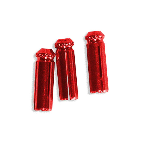 Aluminum Deflectors - Red - Set of 3