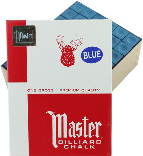Master Pool Cue Chalk - Gross 144 Pieces - Blue