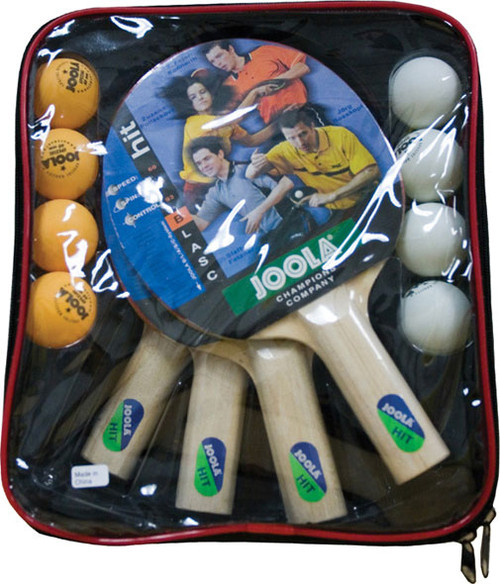 Joola Table Tennis Racket Hit Set - 4 Paddles 8 Balls