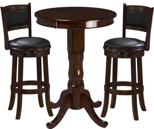 Ram Pub Table Set 3 Piece Cappuccino