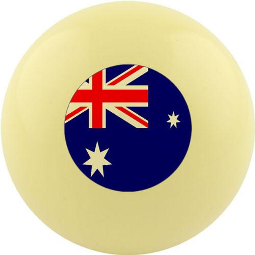 Custom Cue Ball - Australia Flag
