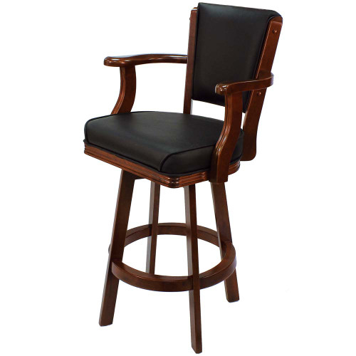 Ram Gameroom Swivel Bar Stool with Arms English Tudor