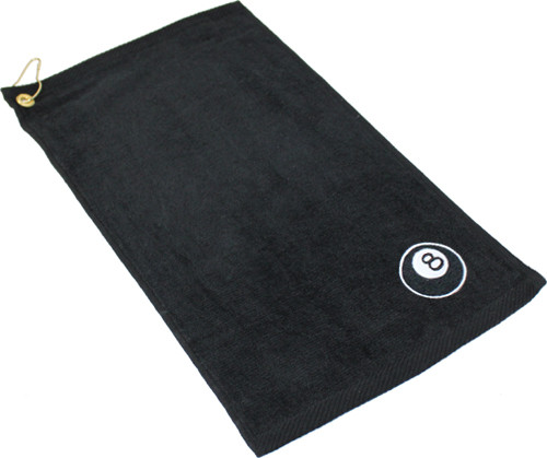Ozone Billiards 8 Ball Towel - Black - Free Personalization