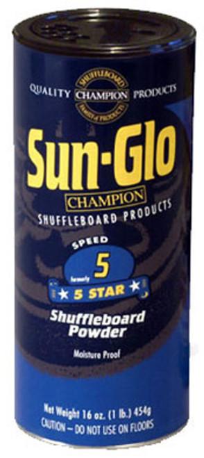 Sun Glo Shuffleboard Powder   Speed 5   Five Star