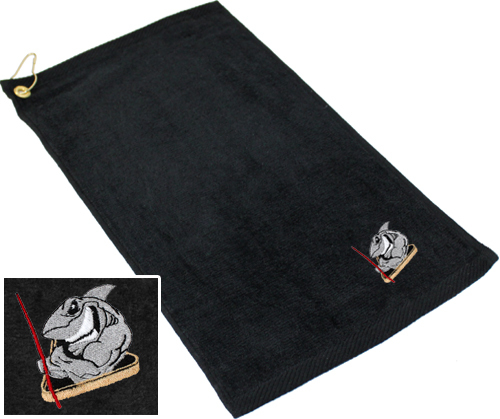 Ozone Billiards Pool Shark Towel - Black - Free Personalization