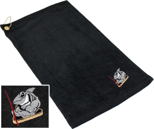 Ozone Billiards Pool Shark Towel - Black - Free Personalization