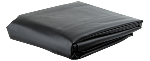 Ozone Black Leatherette Pool Table Cover - 7 Foot