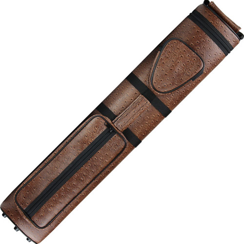 Ozone Pool Cue Case - Tube 3 Butt/5 Shaft - Brown
