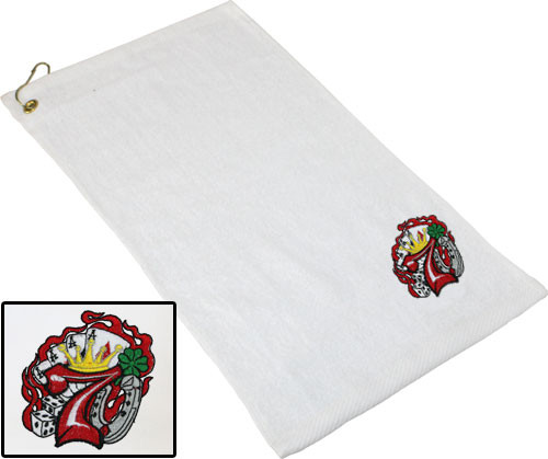 Ozone Billiards Lucky 7 Towel - White - Free Personalization