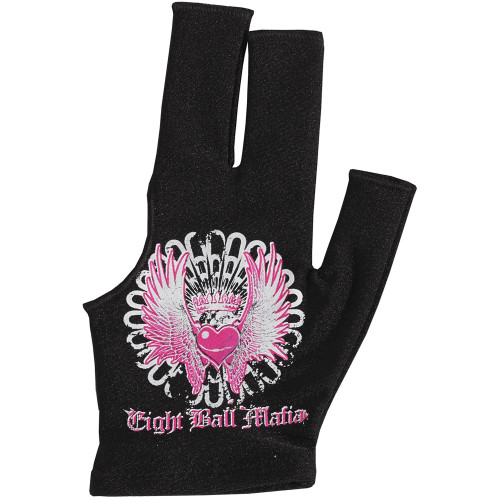 Eight Ball Mafia Glove Heart with Wings - Left Bridge Hand