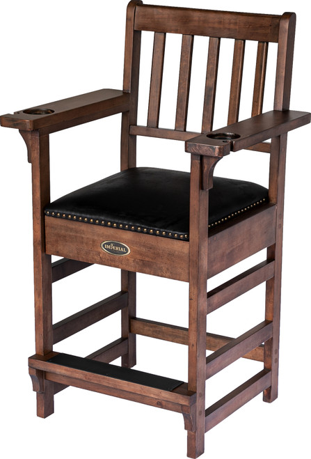 Imperial Premium Spectator Chair with Drawer - Whiskey Stain