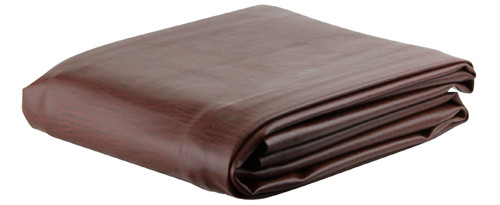 Ozone Brown Leatherette Pool Table Cover - 8 Foot