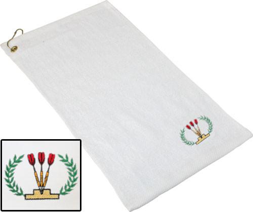 Ozone Billiards Dart Ivy League Towel - White - Free Personalization