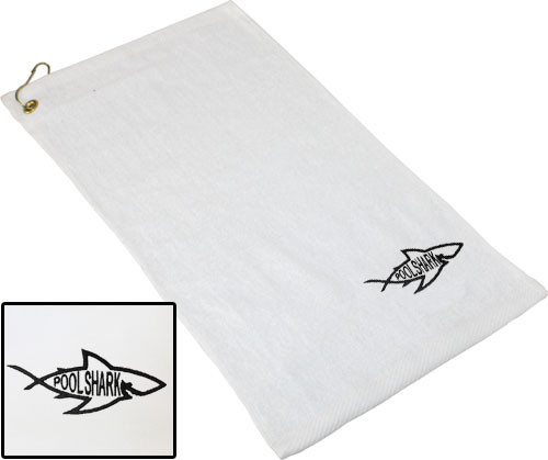 Ozone Billiards Pool Shark Logo Towel - White - Free Personalization