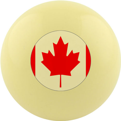 Custom Cue Ball - Canada Flag
