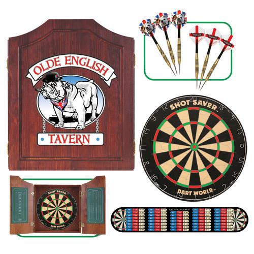 Bull Dog Dartboard Cabinet Set