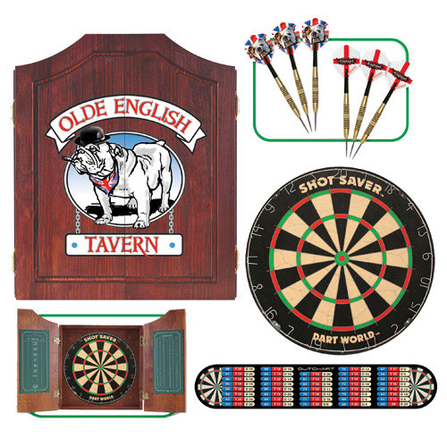Bull Dog Dartboard Cabinet Set
