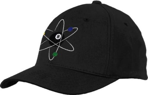 Ozone Billiards Atomic 8 Ball Hat - Black - Free Personalization
