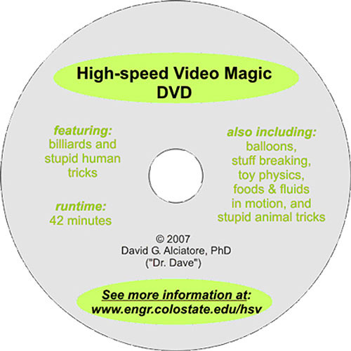High-Speed Video Magic DVD