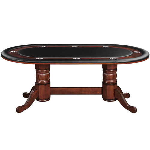 "Ram Gameroom Poker Table with Dining Top 84"" Chestnut"