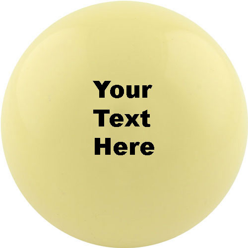 Custom Cue Ball - Personalized Text