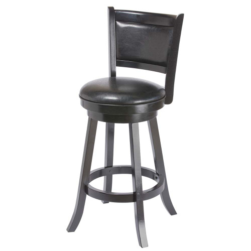 Ram Gameroom Backed Bar Stool Black