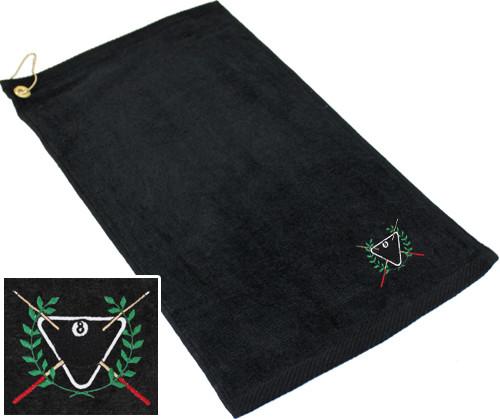 Ozone Billiards Ivy League Towel - Black - Free Personalization