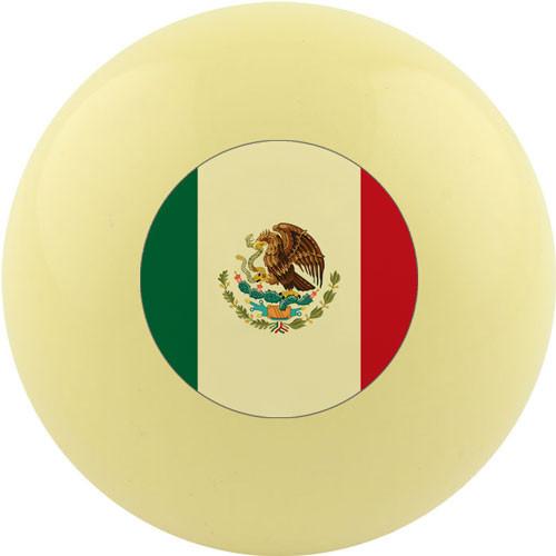 Custom Cue Ball - Mexico Flag