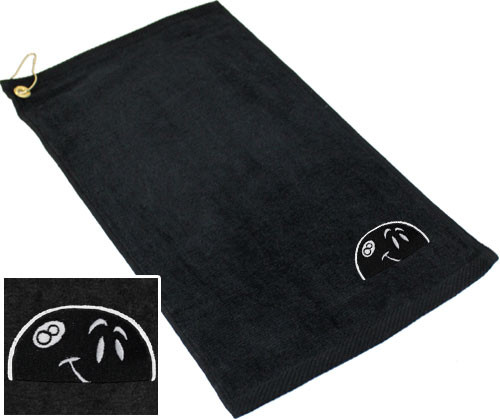 Ozone Billiards Peeking 8 Ball Towel - Black - Free Personalization