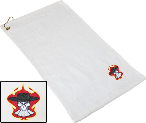Ozone Billiards Gambling Outlaw Towel - White - Free Personalization